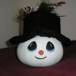 Snowman gourd giftsbynaomi