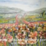 Acrylic painting pink garden giftsbynaomi