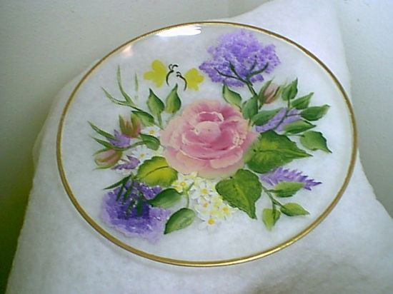 Handpainted Glass - Platter