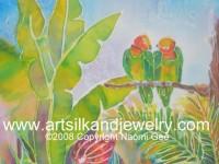 Silk Painting 16x20 Love Birds giftsbynaomi