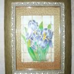 Silk Painting Blue Irises giftsbynaomi