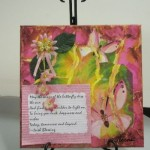 Mixed Media Pink Flowers giftsbynaomi