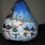 Handpainted Gourd - family of 5 giftsbynaomi