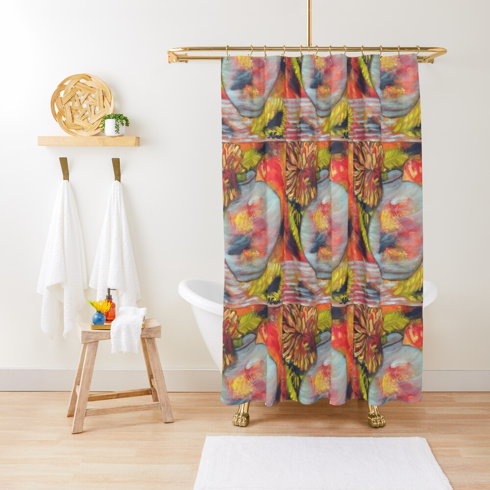 2020 Fall Decor Bathroom shower curtain