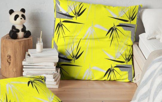 Floor-Pillow-Yellow-Gray-and-Black-Giftsbynaomi